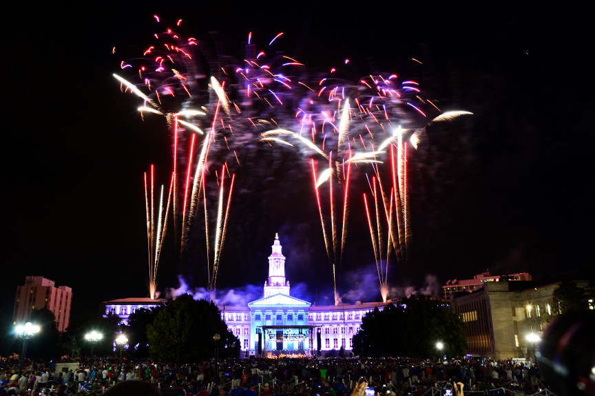 FIREWORKS LIGHT UP THE DENVER SKY