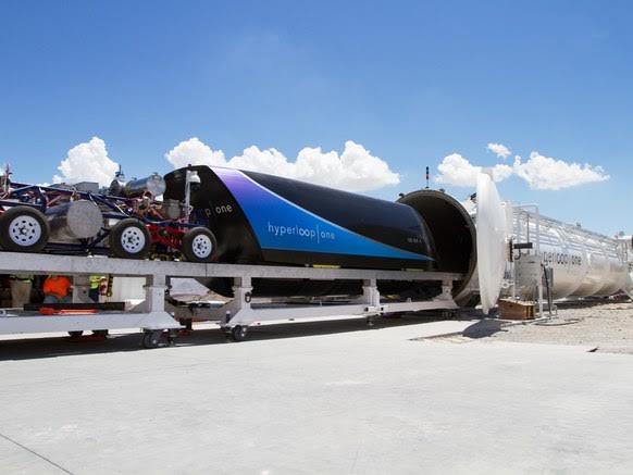 Hyperloop One's DevLoop test track in Nevada. (credit: Alexander Esseveld)
